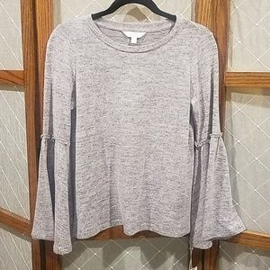 Lauren Conrad Ruffle Trim Bell Sleeves Sweater XS